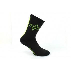 Fietskleding - Fietssokken -  kopen - Acht Supply Kom Double Sokken – Zwart/Neon Geel