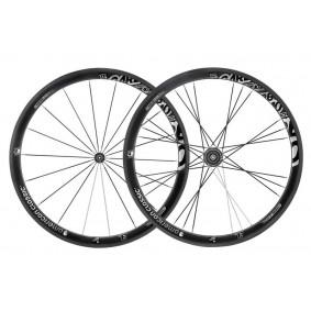 Fietsonderdelen - Wielen -  kopen - American Classic Carbon 40 Track Clincher Wielenset