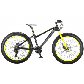 Fietsen - Mountainbikes -  kopen - Altec Fat Bike Allround 26 inch – Zwart/Geel